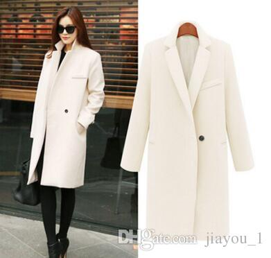 2017 Fall/Winter Long Cashmere Coats Women European And American ...