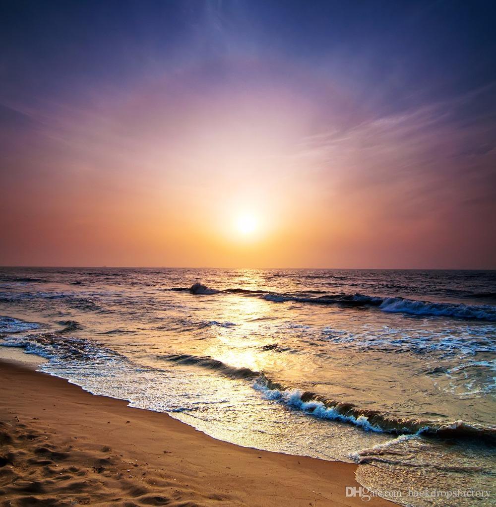 2018 Vinyl Back Drop Photography Background Beach Sunset