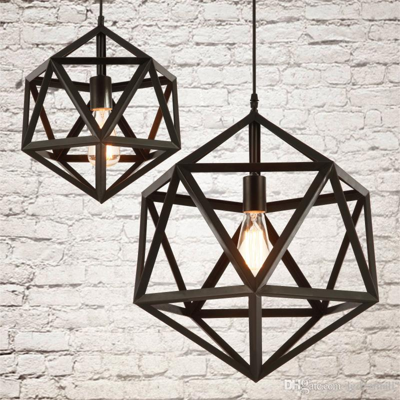 Discount 110v 220v Industrial Vintage Ironwork Edison Ceiling Lamp Pendant  Rh Loft Metal Cage Light 1 Light Cage Lamp Guard Farmhouse Pendant Lighting  ...