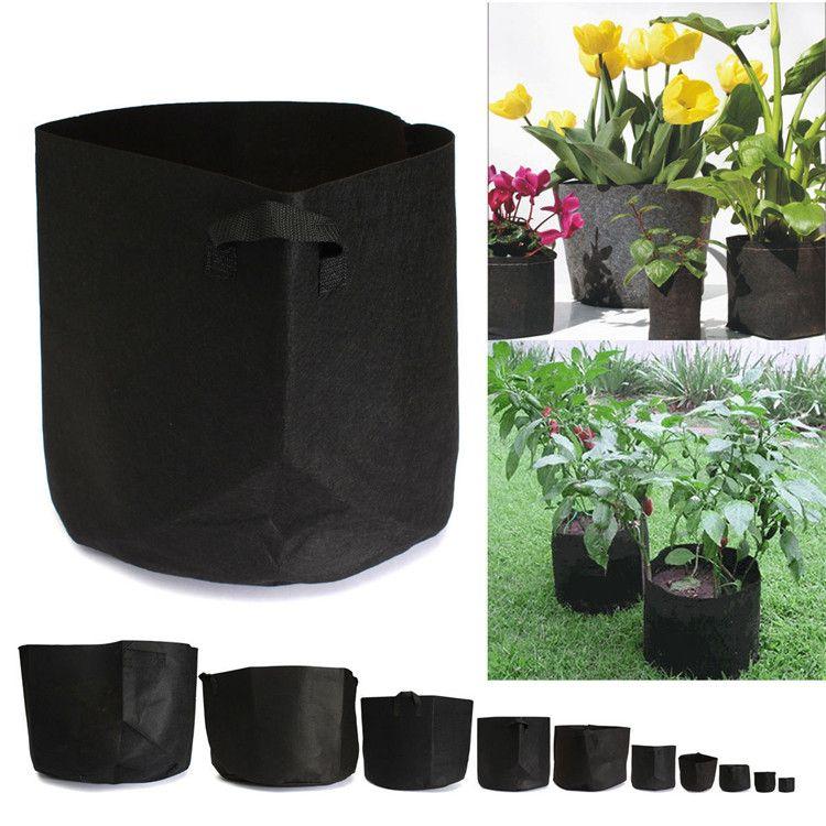 225 & Grow Bag Plants Fabric Pots Plant Pouch Root Container Aeration Flower Pot Bag Planters Pouch FA531