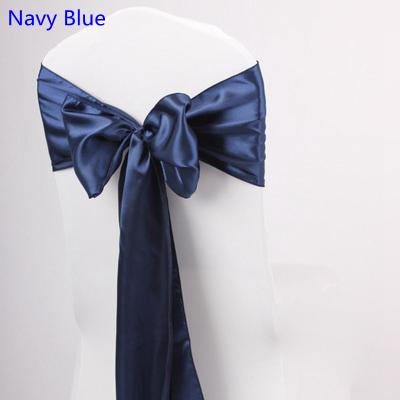 Navy Blue Colour Satin Sash Chair High Quality Bow Tie For Chair Covers  Sash Party Wedding Hotel Banquet Home Decoration Wholesale Sash Maker White  Chair ...