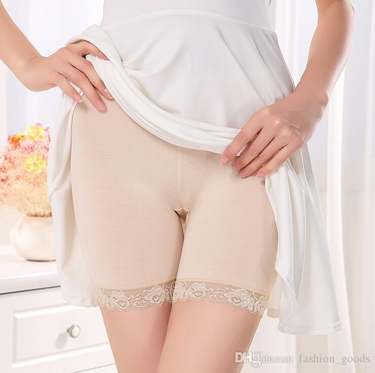 Best gift Bamboo fiber lady code sexy lace lace three-legged pants security anti-light underwear NP042