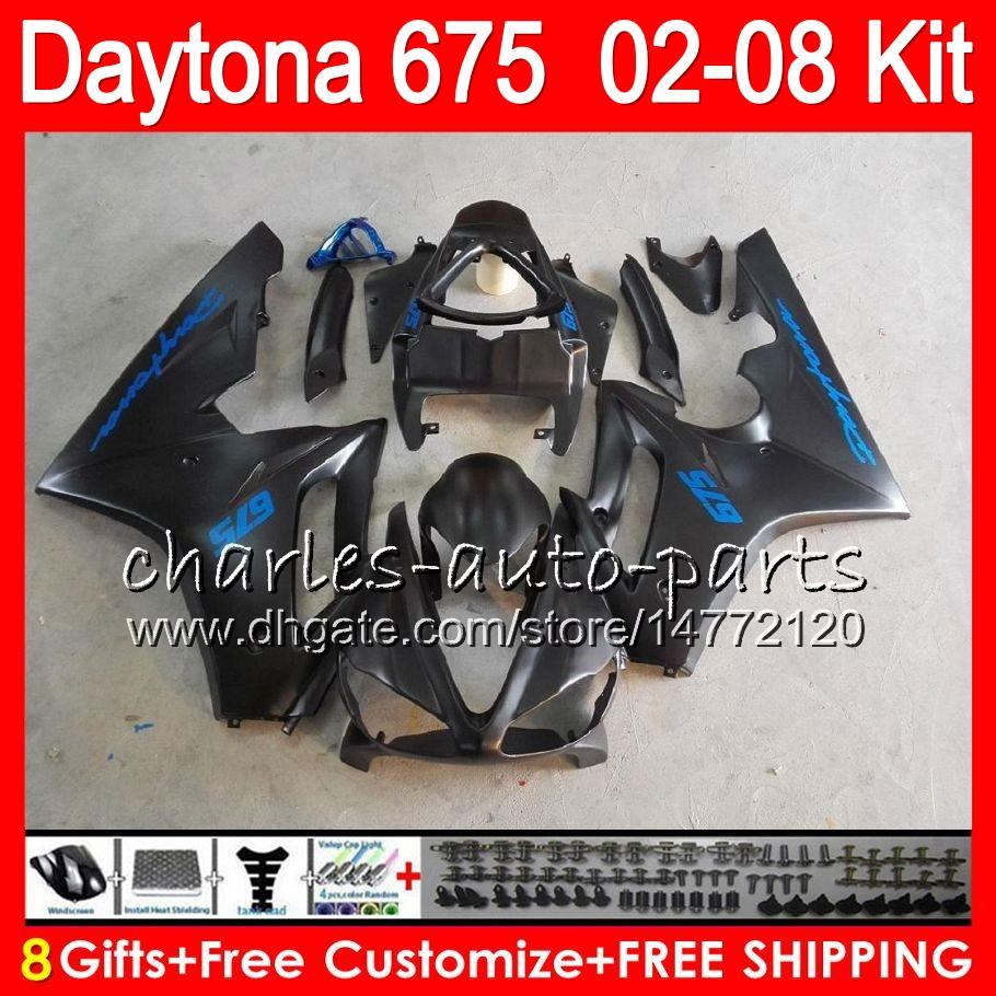 8 regali i trionfo Daytona 675 02 03 04 05 06 07 08 Daytona675 nero 4HM16 Daytona 675 2002 2003 2004 2005 2006 2007 2008 carenatura