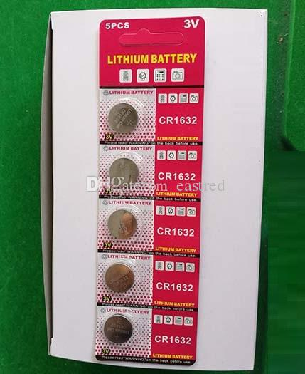 CR1632 3 v lityum düğme pil, madeni para hücreleri 200 Blister kart / blister başına 5 adet