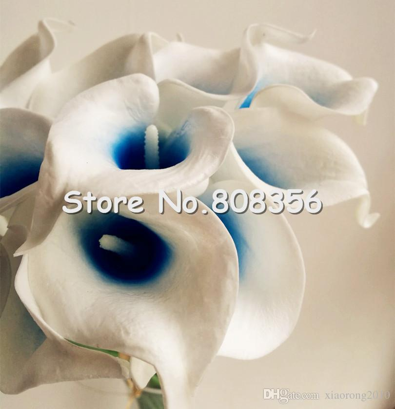 Látex Callas 35cm elegante silicone artificial egípcio calla lírio alocasia plumbea flor para casamento nupcial Centerpieces decorações