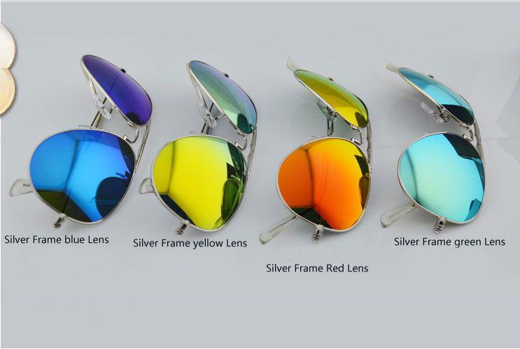 New Style Folding Sunglasses unisex Sun glasses Mens Womens colorized lens glasses Mirror Folding Sunglasses glass Lens glitter2008
