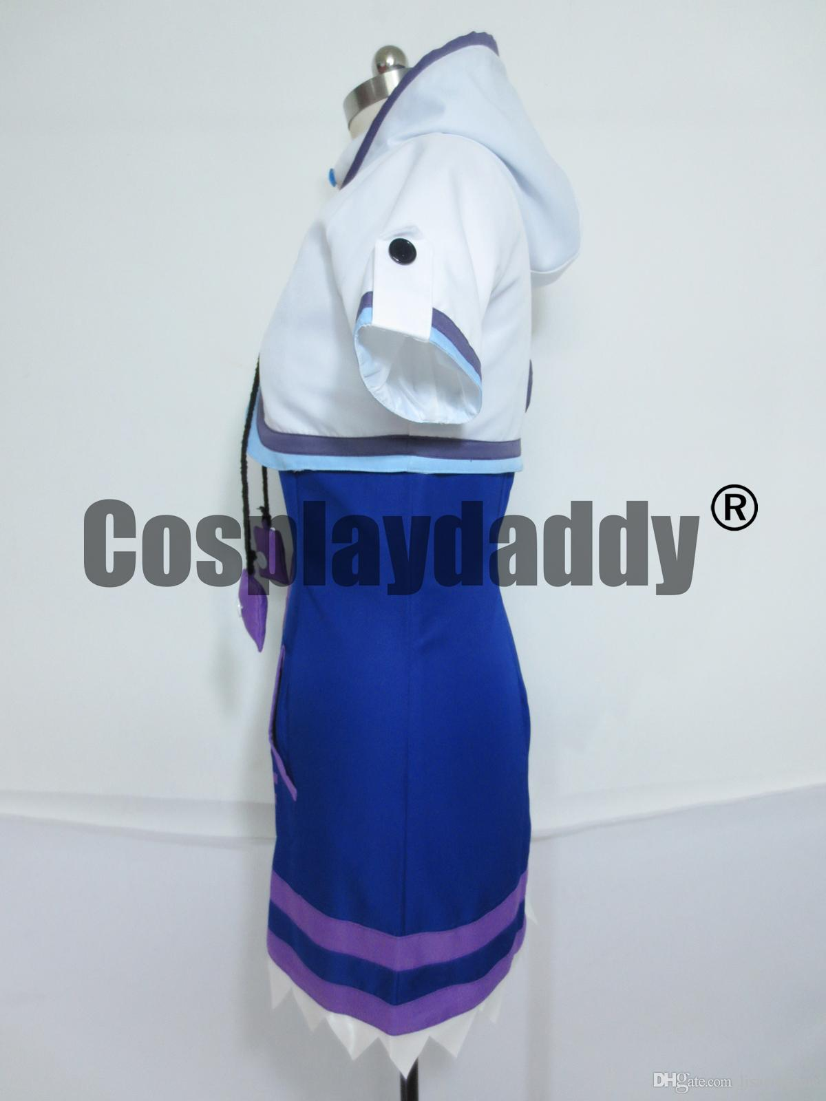 Hyperdimension Neptunia Neptune Filles Dress Set Costume Cosplay
