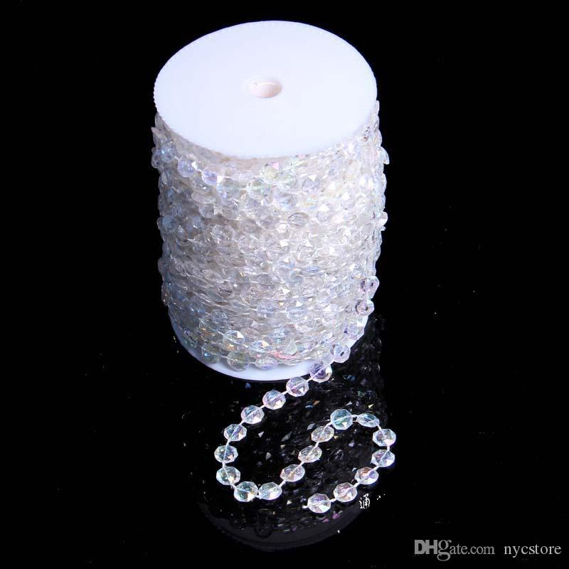 30 meters 99 Feet Garland Diamond Strand Acrylic Crystal Bead Wedding Decor Birthday Christmas Decor DIY Curtain Decoration