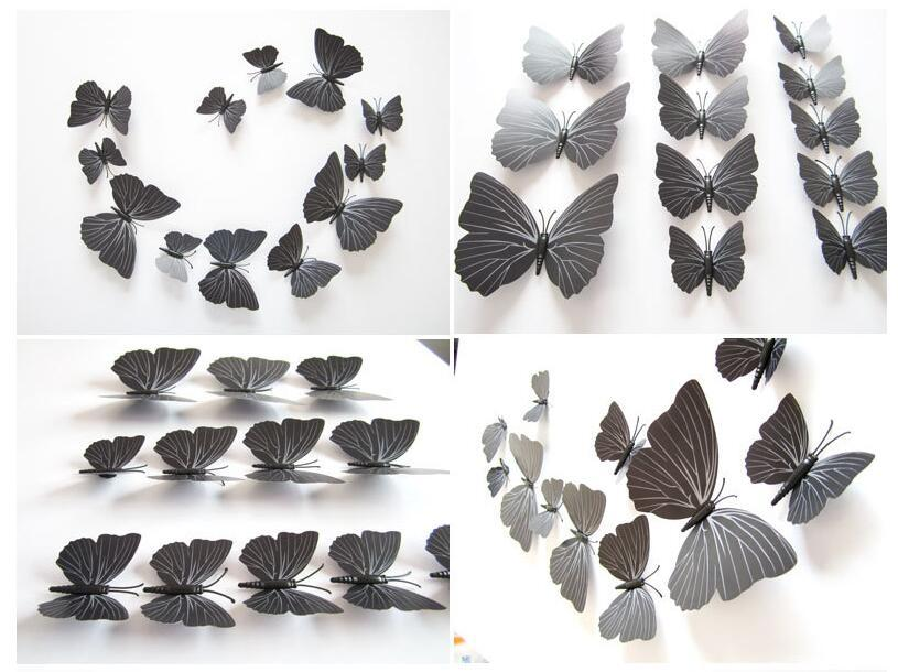 Blue Beautiful 3D Butterfly Wall Stickers DIY Home Decor With Magnet For Living Room Bedroom Party Decoration