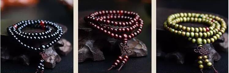 108 * 8MM حقيقية مجوهرات خشب الصندل الطبيعية الخرز بوذا ملص سوار المعصم صحي رجل مالا دوبلي BOWKNOT أساور 5 ألوان