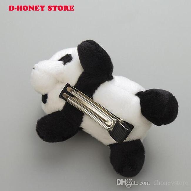 Ücretsiz Kargo sevimli panda bebek kauçuk saç bantları Saç halat çocuk güzel Karikatür saç pimleri kız bebek aksesuarları