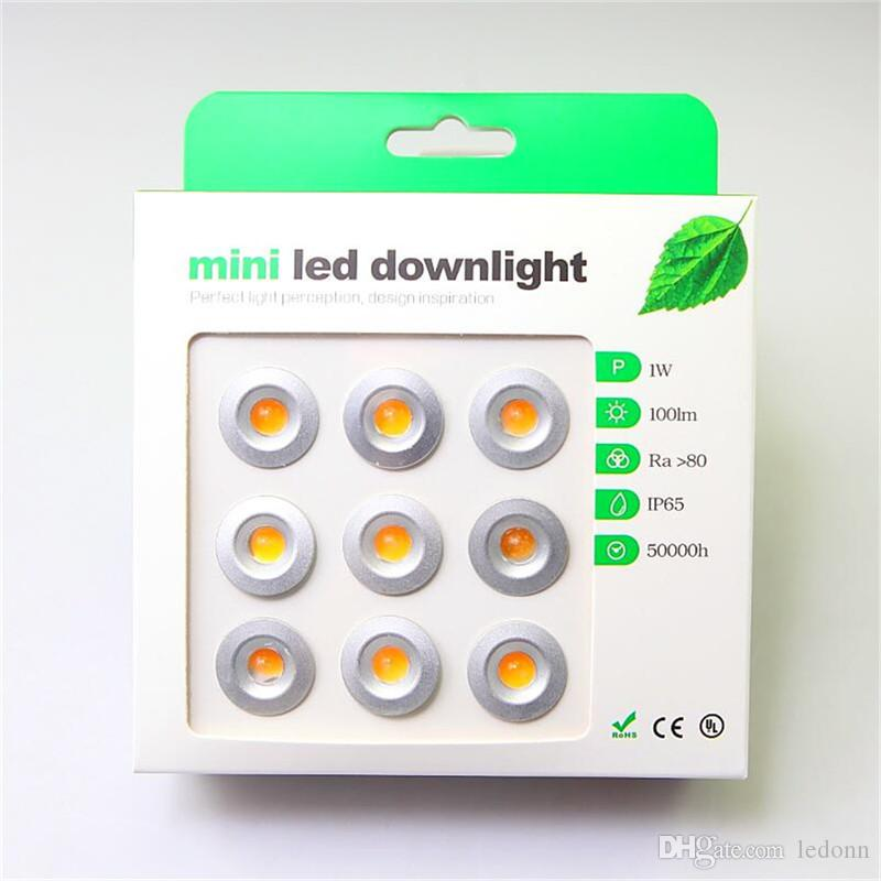 9pcs/set 1W Super Mini LED Spotlights DC12V IP65 LED Buried Stairway Recessed Lights mini downlight 3000K 6000K Free Shipping