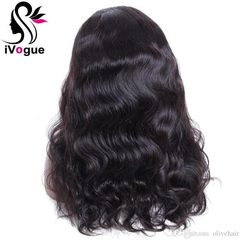 Virgin Human Hair Full Lace Wig Brazilian Body Wave Lace Front Wigs Unprocessed Remy Hair Wavy Glueless Human Hair Wig Grade 6A
