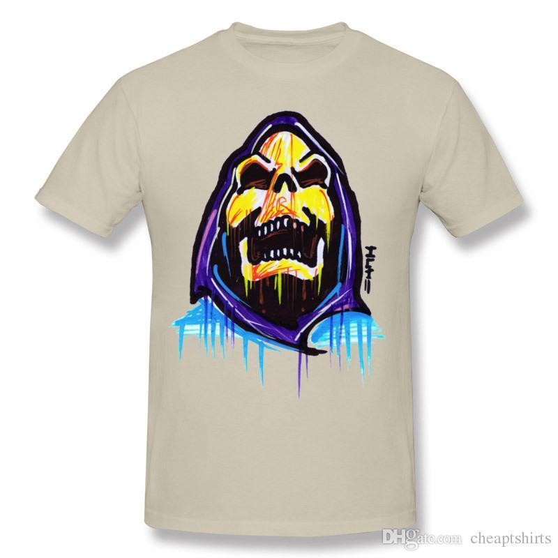 cd5f94a7223b Horror graffiti boy's T-Shirts Skateboard boy must have cool skull printed  fine tshirts fit crew neck design for men Skeletoriffic