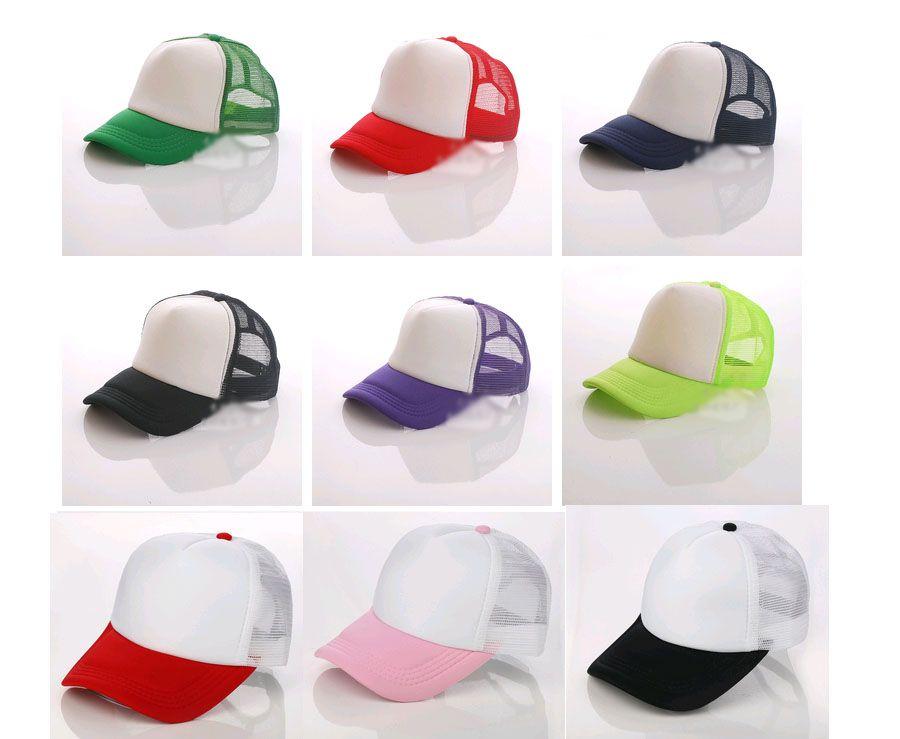 Cappelli Trucker all'ingrosso adulti e bambini taglia regolare berretto a rete cappelli da baseball color caramella berretti a visiera a tesa curva abbigliamento femminile e maschile può logo fai da te