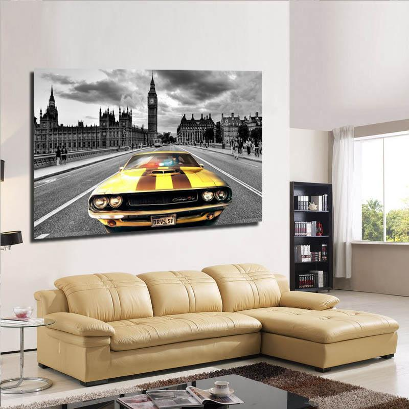 2018 Free Sample Home Goods Wall Art A Car Was Driving In The ...