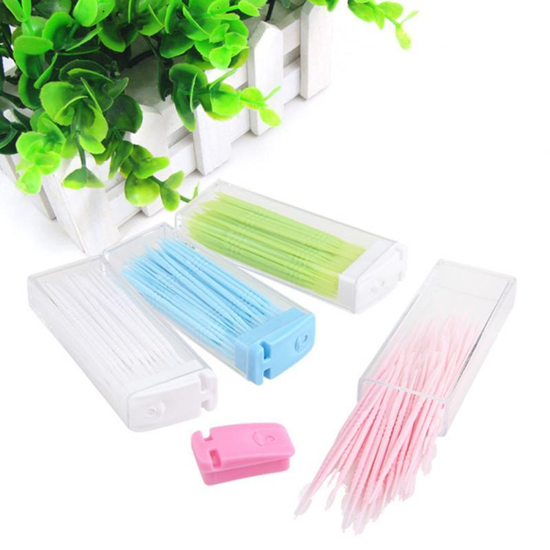 Wholesale- 3 Boxes/150pcs Portable Toothpicks Plastic Eco-friendly No Smell Toothpick