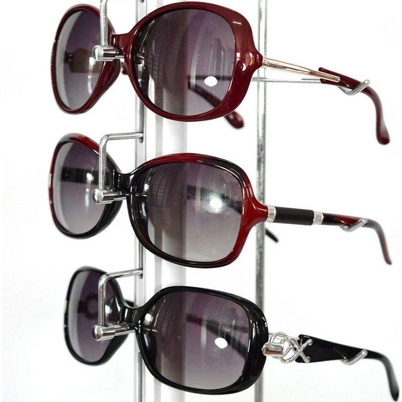 ST016L mantenga para gafas de aluminio con cerradura Display rod Gafas de sol Rack Show