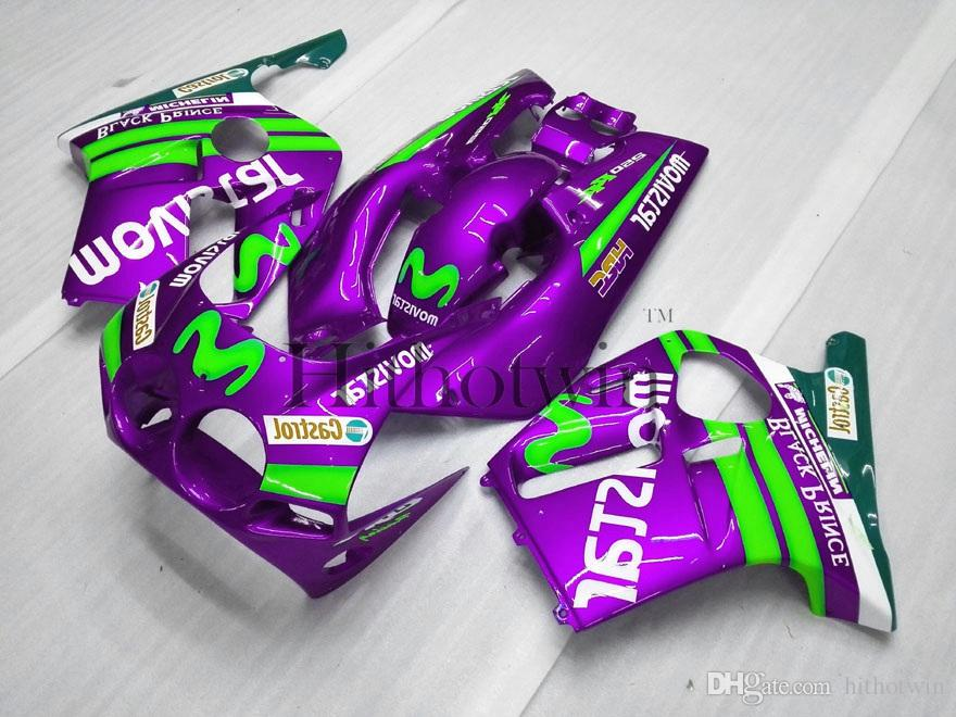 Gifts purple green Injection mold ABS Fairing For honda CBR250RR MC19 1988-1989 MC19 88 89 Aftermarket Motorcycle