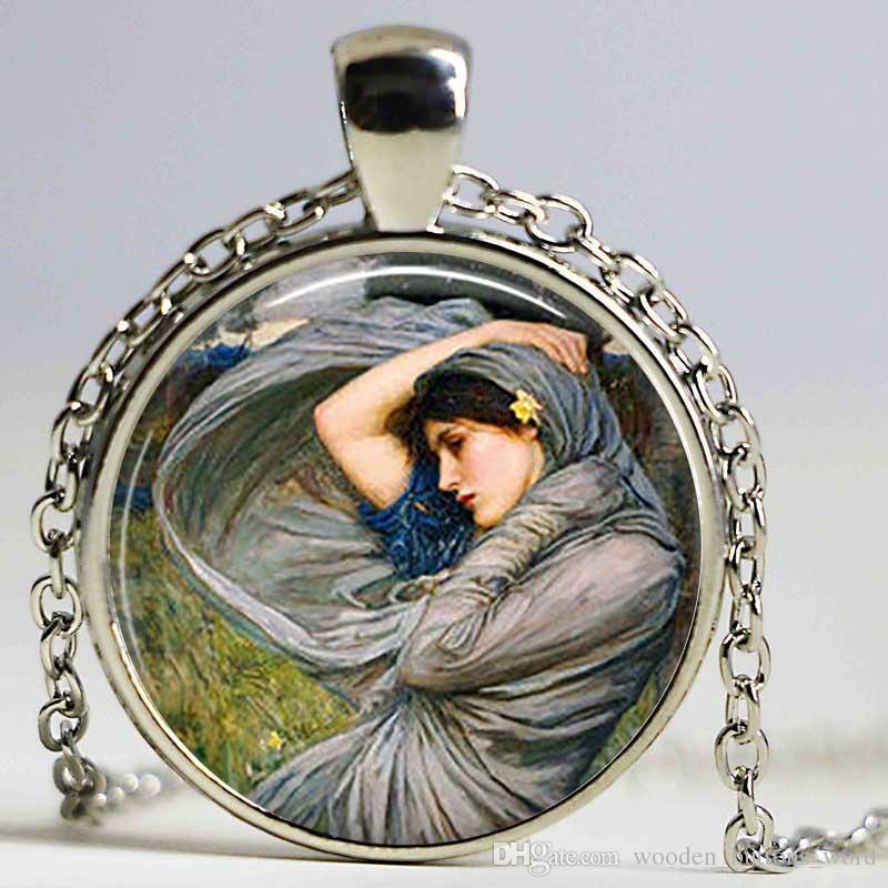 Gypsy Wind Art necklace Retro Gift Waterhouse necklace Cabochon Glass Jewelry Fashion necklace