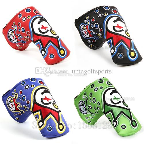 Hot New Golf Head Cover High Quality PU Golf Putter protecter with Embroider Red Green Blue Black 4 color