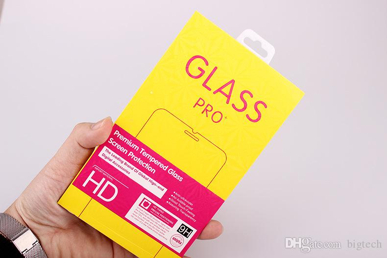 Paper Packaging Box FOR Mobile Phone Tempered Glass Screen Protector for huawei Packaging BOX with Hanger