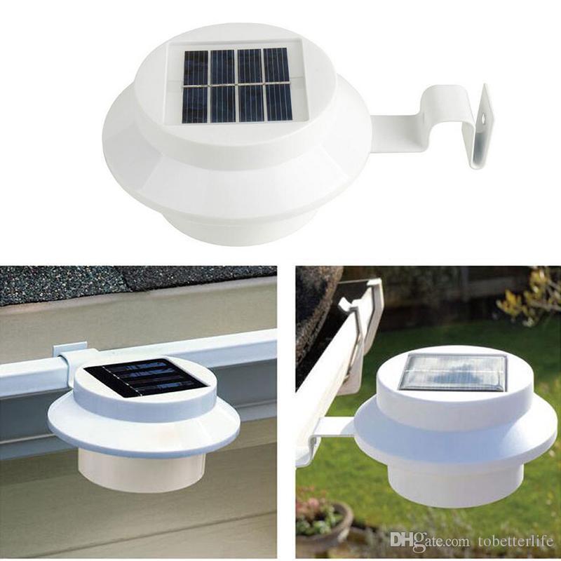 3 LED solarbetriebene Außenleuchten Garten Hof Wand Weg Zaun Gutter Lampe Licht Treppe Beleuchtung Haus Dekorationen