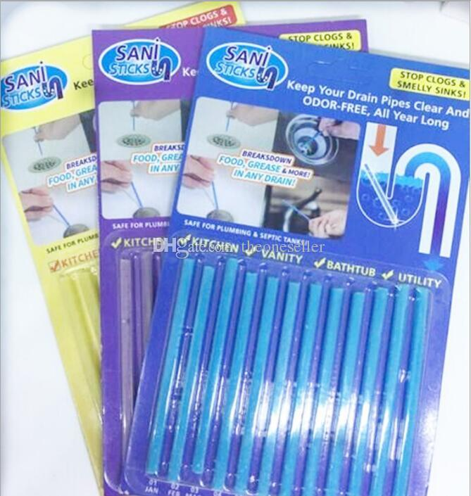 Sani Stick Conduit Bathtub Sewer Decontamination Sticks Cleaning Keep Your Drain Pipes Clear And Odor Free All Year Long