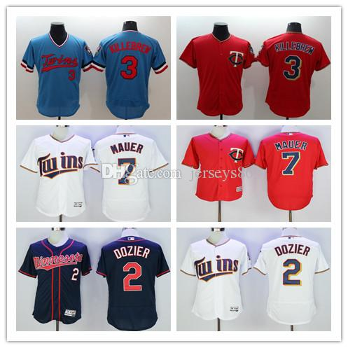 ... Authentic Stitched Baseball Jerseys 2017 Brian Dozier Jersey Cheap Joe  Mauer 2017 Minnesota Twins Flexbase Cool Base Throwback Harmon Killebrew ... 4faede323