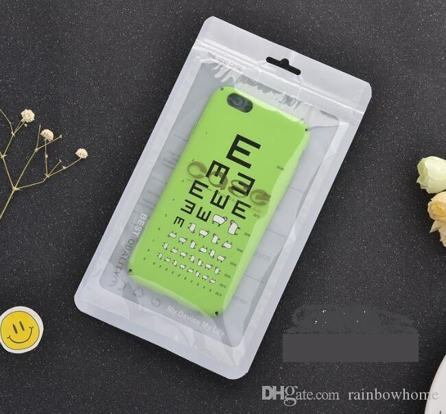 Ziplock plastic OPP PP Poly Bag Retail Package Box Pack for iPhone 11 Pro XS Max XR Samsung PU Leather Case Cove customprin