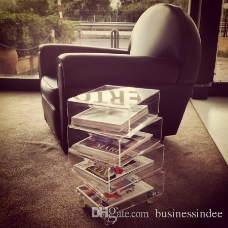 2018 Modern Clear Plexiglass End Table 5 Layers Acrylic Movable Book  Shelf,Perspex Transparent Magazine Holder From Businessindee, $434.26 |  Dhgate.Com