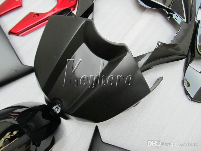 100% подходит для Yamaha литья под давлением обтекатели YZF R1 09 10 11 12 13 14 матовый черный красный обтекатель комплект YZFR1 2009-2014 OR14