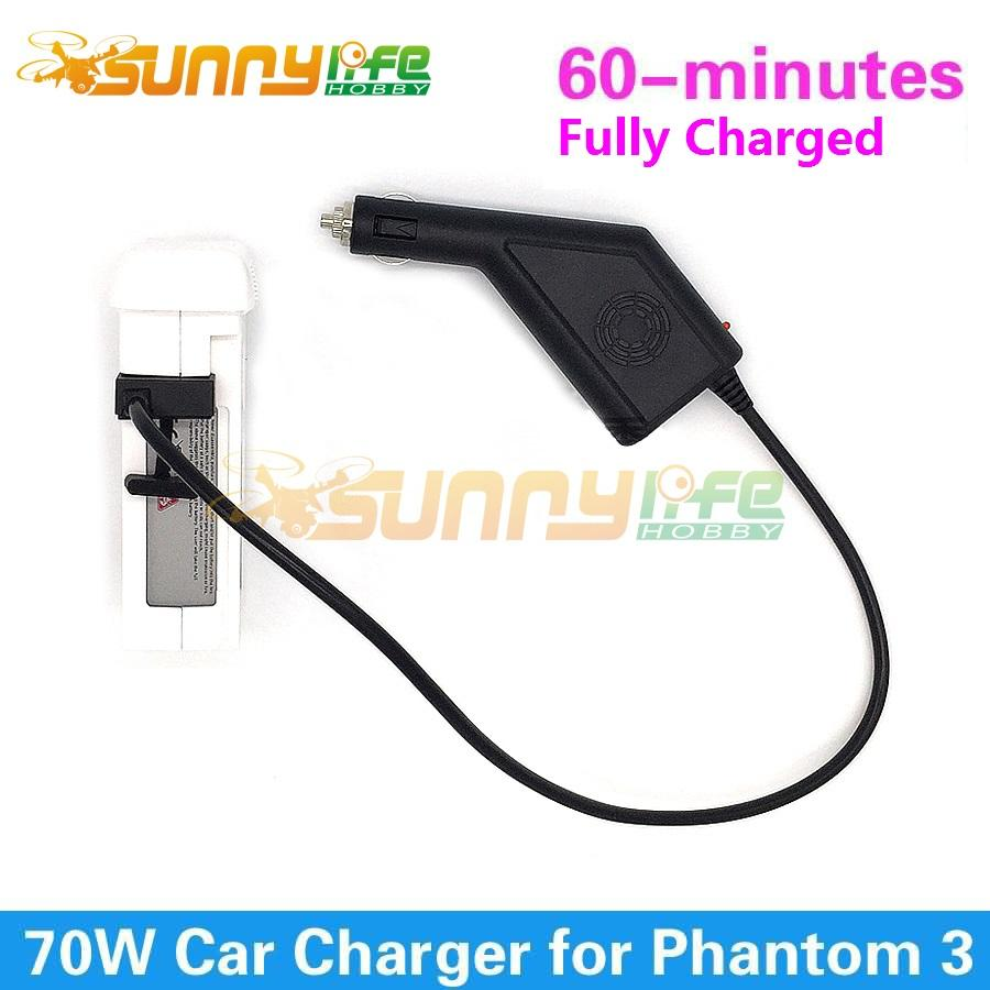 Wholesale- Phantom 3 Car Charger Battery Charger 17 5V 4A 70W Output  Battery Part for DJI Phantom 3 Standard Advanced Professional