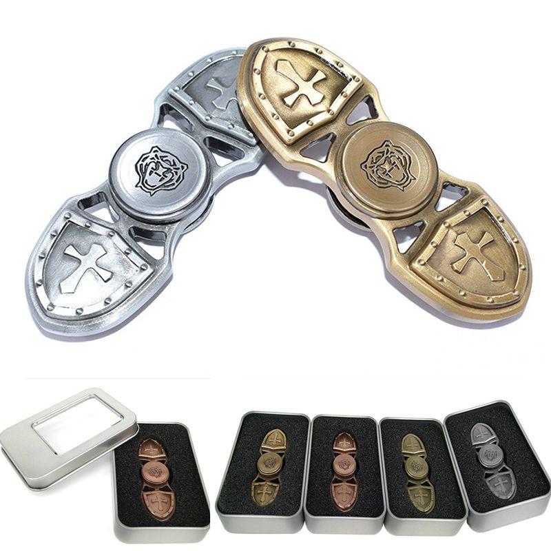 Luxury Top Best Metal Fashion Hand Spinner Cruciata Sword Shield EDC