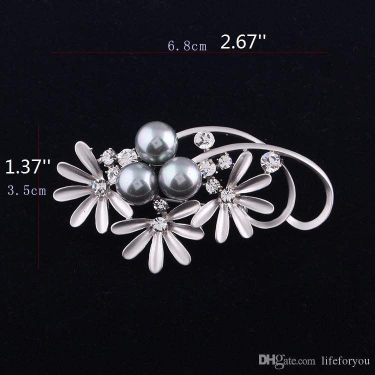 Vintage Rhinestone Brooch Pin Alloy Pearl Flowers Jewelry Broach corsage for bridal wedding invitation costume party dress brooch pin