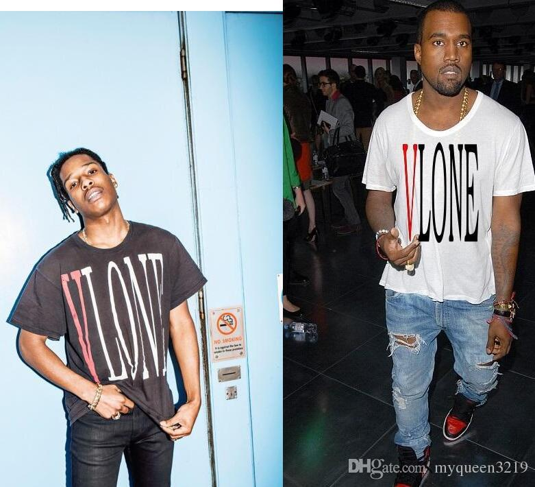 Online Cheap 2017 Summer V Lone A$ap Asap Rocky Kanye West Clothing Cotton  Short Sleeve T Shirt Tee By Myqueen3219 | Dhgate.Com