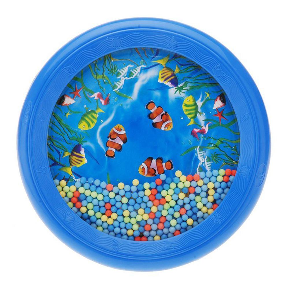 Wholesale-Ocean Wave Bead Drum Gentle Sea Sound Musical Educational Toy Tool for Baby Kid Child