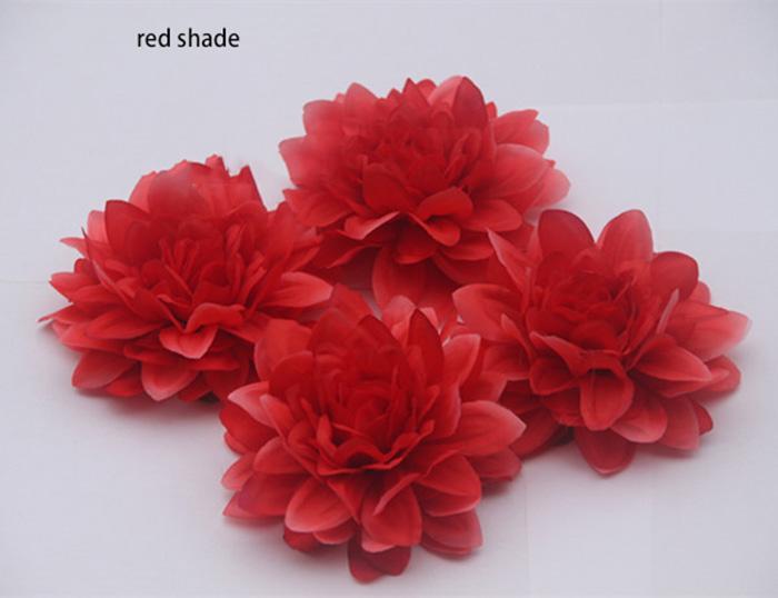 9 cm / 3.54 polegadas grande emulational seda artificial DAHLIA cabeça de flor para casa, jardim, casamento, ou para no chapéu da festa de férias ou vestido decoração