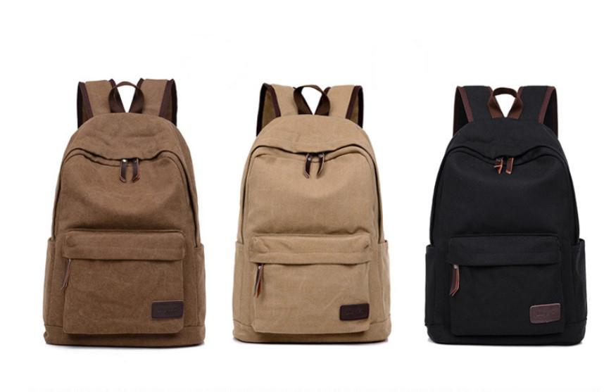 066fe119a9e Canvas Men S Backpacks Men Vintage Canvas Backpack Rucksack School ...