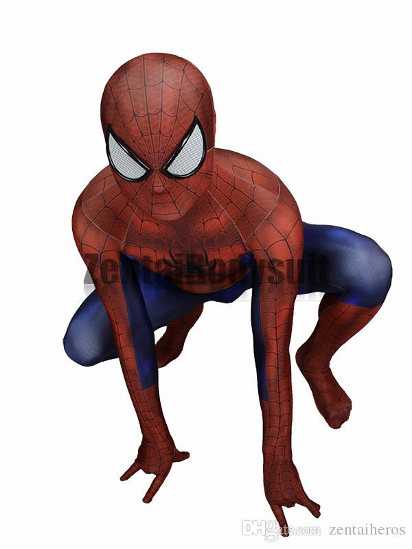 spiderman costume 3D Printing spider-man costumes cosplay spandex zentai suit Halloween Party Costume