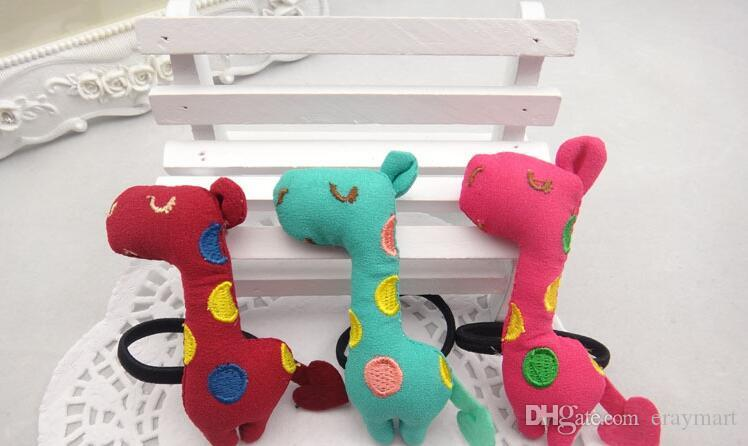 Children's animal Cloth art cute giraffe headdress hairpin and hairbands A hair act the role ofing is tasted