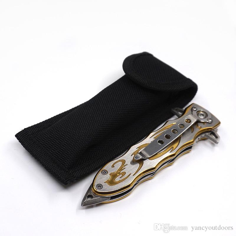 Golden Rome Pocket Folding Knife 420 Steel Blade SOG Portable Rescue Survival Outdoor Tool Hunting Camping Combat Knives Gear Best Gife
