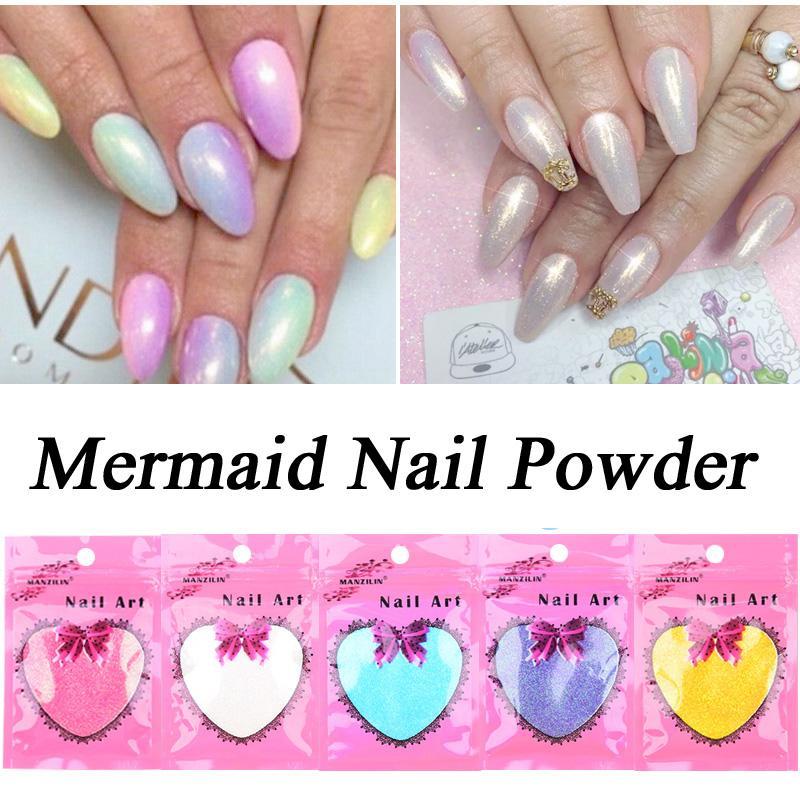 Wholesale 10g/Bag Mermaid Effect Nail Glitter Polish Sparkly Magic ...
