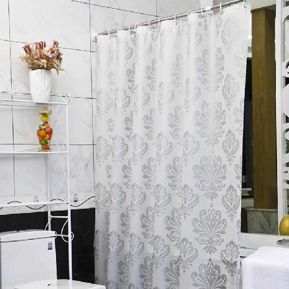2019 Wholesale Shower Curtain Fashion PEVA Padded Waterproof Bathroom European Style Silver Plant Shape A2 From Asite