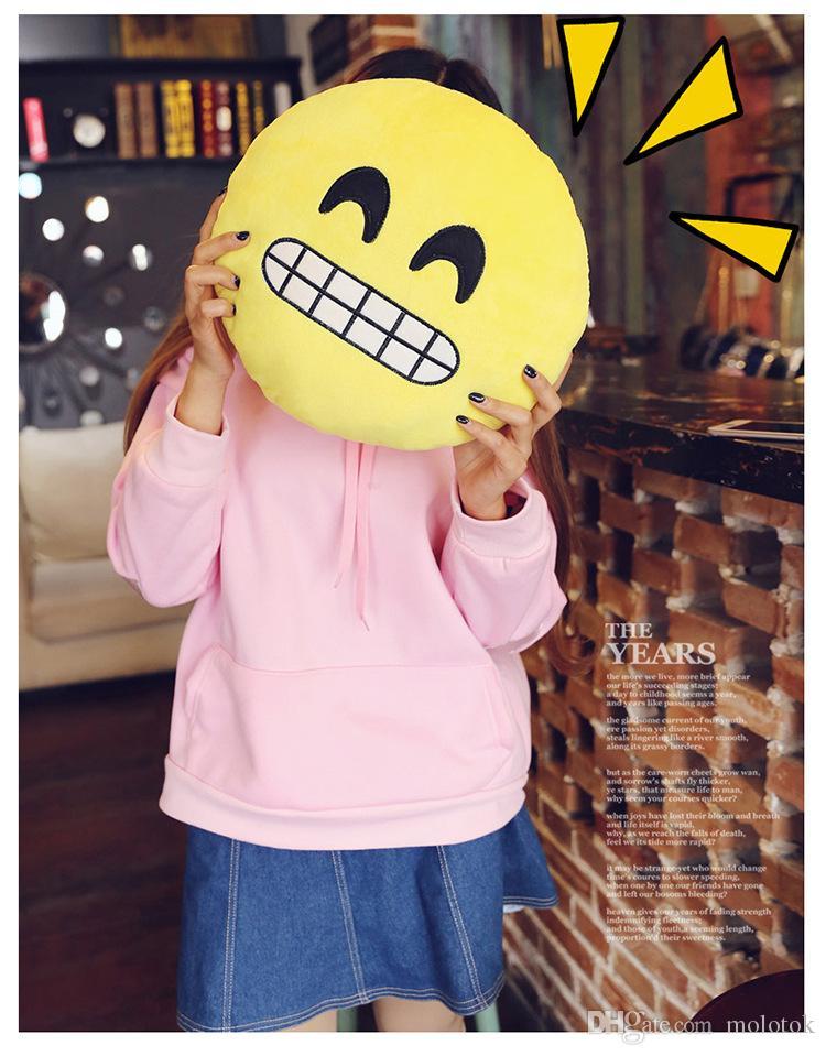 귀여운 이모 베개 30cm 플러시 베개 QQ 웃는 감정 소프트 장식 쿠션 박제 인형 장난감 인형 크리스마스 선물 여자