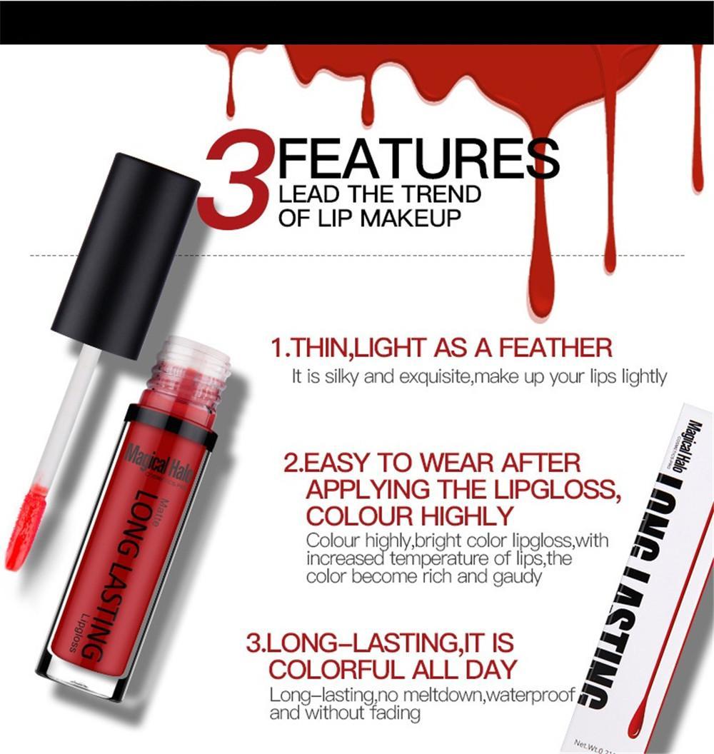 lipstick Waterproof Matte Liquid Lipstick rouge a levres Lip Stick Long Lasting Lip Gloss Cosmetic Beauty bea214 dhl