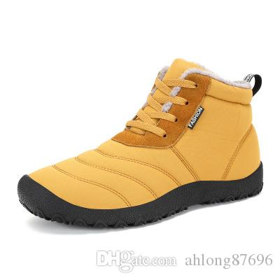 17 years of winter high new high-rise lace and cotton-padded shoes large size male outdoor cotton boots in the elderly warm snow boots