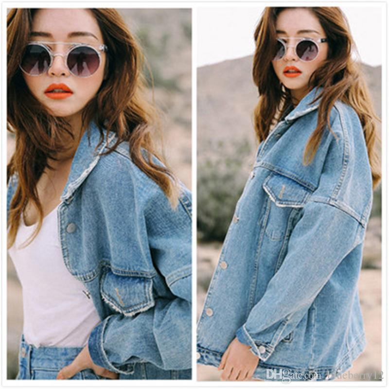 545235d53b5 Uwback New Oversized Denim Jacket Women Plus Size Loose Jeans Jacket Women  Washed Denim Jackets Women Coat Jacket Coat Leather Jackets From  Blueberry12