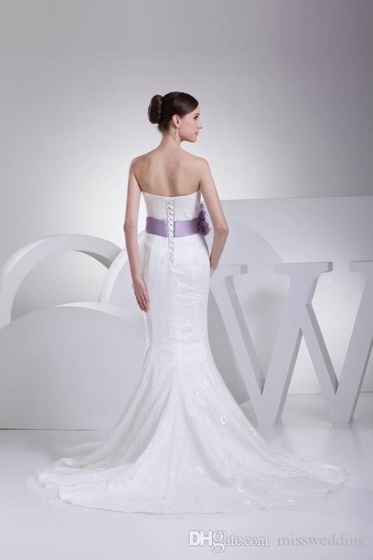 고품질 2017 여성 웨딩 드레스 벨트 손수 꽃 연인 코르셋 다시 신부 인어 드레스