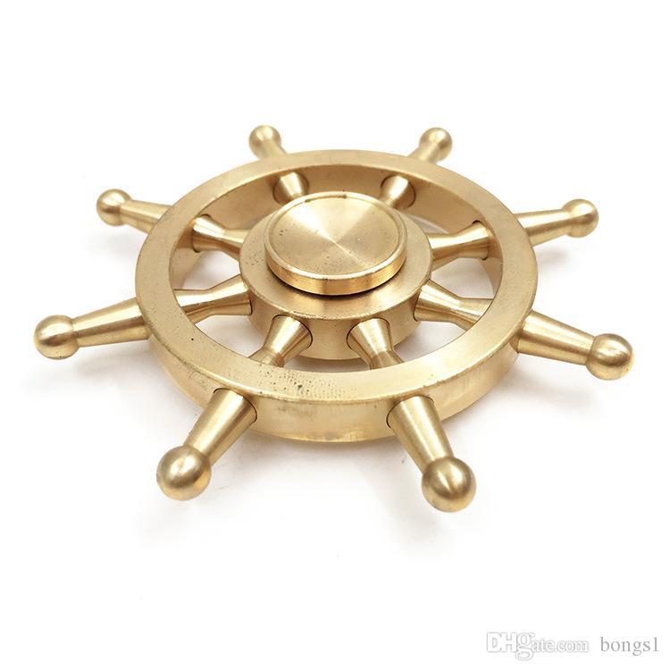 2017 Boat Rudder Hand Spinner Edc Decompression Toy Helmsman Fidget Spinner Steering Wheel Design Fidget Toy Classic Style